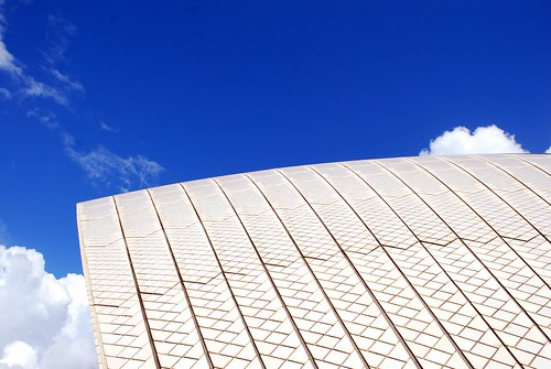 Close up of a sail on the Sydney Opera House, Australia
