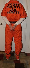 IMG_0670crop (bob.laly) Tags: uniform chain jail shackles handcuffs prisoner jumpsuit inmate