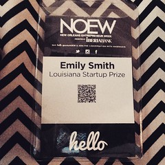 If you're at #NOEW, look for this nametag to find out how you can win $70k for your business! @hellonoew #noew2015 #neworleans #entrepreneur #bigidea