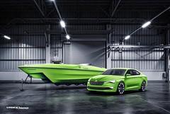 Концепт спортивного катера Skoda VisionSea и Skoda VisionC