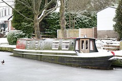 13963 Caseing the joint. Macclesfield Canal High Lane nb (melbettsimages) Tags: winter snow cold ice water boat canal frozen duck mallard narrowboat towpath macclesfieldcanal