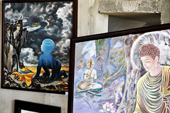 Divergent art (Roving I) Tags: art events religion paintings festivals buddhism vietnam exhibitions celebrations styles danang pagodas marblemountains
