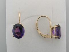 AAA Amethyst 14ktyg earrings