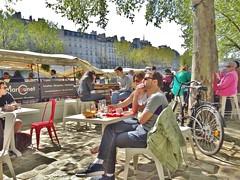 2015-04-19   Paris - Quai de l'Hôtel de ville - Le Marcounet (P.K. - Paris) Tags: street people paris café french terrace candid terrasse sidewalk april avril inparis 2015
