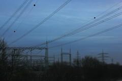 Substation Buescherhof (betadecay2000) Tags: germany ceramic deutschland high power steel powerline strom glas substation voltage stromversorgung insulators umspannwerk stahl hochspannung keramik elektrisch insulator elektrizität leitung spannung isolatoren elektrischer freileitung isoator