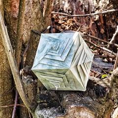 Spiral cube (Tomoko Fuse) (claudiaboujdaa) Tags: art paperart spiral origami craft cube papiroflexia tomokofuse