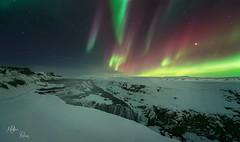 Le ciel va nous tomber sur la tte ! (Mathieu Rivrin - Photographies) Tags: beautiful night lights waterfall iceland nikon aurora northern cascade nuit gullfoss islande aurore magie d800 borale borales