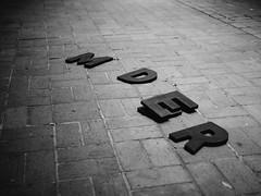 MDER (BurlapZack) Tags: bw monochrome night marquee mono scary noir bokeh availablelight ominous letters spooky sidewalk murder handheld ur hiddenmessage dallastx texastheatre secretcode pack06 oakclifftx mder panasonicleicadgsummilux25mmf14 vscofilm olympusomdem5markii
