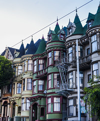 mcallister victorians (pbo31) Tags: sanfrancisco california houses color green castle architecture spring nikon apartment victorian may row historic neighborhood bayarea westernaddition alamosquare mcallister 2016 boury pbo31 d810