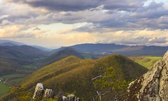 North Bound (popago) Tags: blue light sky mountains green landscape outdoors spring boulders westvirginia mountainside