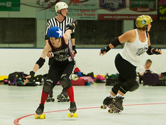 IMG_1962 (clay53012) Tags: womens flat track roller derby wftda derby flat track madison mrd league bout jammer jam team skate hartmeyer ice arena moocon2016