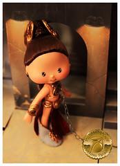 Princess Leia Slave Girl Custom 5 (Plum's Place) Tags: starwars princessleia strawberryshortcake ooakdoll slavegirlleia retro80s retrotoys plumsplacecustoms plumsplace