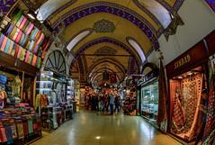 Grand Bazaar - Istanbul (Aleem Yousaf) Tags: turkey photo nikon market walk grand istanbul fisheye shops bazaar 16mm bustle sultanahmet d800 vendors hustel