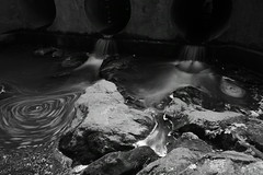 Drainage ND BW (michael_orr25) Tags: longexposure blackandwhite bw water monochrome rocks stream nd neutraldensity