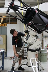 "Mathew prepares counterweights on the telescope mount • <a style=""font-size:0.8em;"" href=""http://www.flickr.com/photos/27717602@N03/26981819431/"" target=""_blank"">View on Flickr</a>"