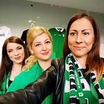 07.05.16 Hostesses for the fotball club Olimpija./Hostesniki NK Olimpija Ljubljana na tekmi Olimpija:Maribor