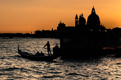 The sun sets on Venice