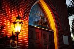 Church (FunkadelicSam) Tags: life street old city light urban building church night vintage cool sony low religion konica beauitful mirrorless