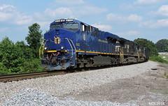 NS 8103 N&W Heritage Unit leads NS Train 173 in Waco, GA (RedneckRailfan610) Tags: railroad heritage ga georgia birmingham waco god ns district norfolk east southern western ge 173 gevo es44ac d940cw d840cw ns8103