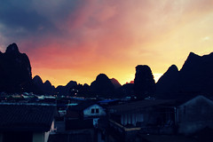 Setting the Mood (Meeg.E) Tags: china pink sunset summer travelling students beauty landscape scenery heaven yangshuo backpacking