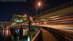 Fort Pitt Bridge (DSC01248-Edit) (Michael.Lee.Pics.NYC) Tags: longexposure night downtown pittsburgh cityscape sony lighttrails footpath traffictrails monongahelariver fortpittbridge a7rm2 zeissloxia21mmf28