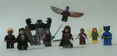 """Knock-off"" LEGO Swag from the 2016 Sci-Fi Valley Convention (jgg3210) Tags: china phoenix silver big lego fig surfer chinese xmen captain superhero beast custom marvel clone archangel bootleg gambit daredevil punisher venom minifigure psylocke minifigures decool"