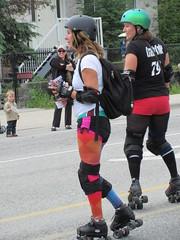 Roller Derby women (jamica1) Tags: canada code women bc crash okanagan may columbia days parade roller british kelowna rutland derby 79