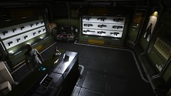 StarCitizen - Port Olisar weapons vendor (tend2it) Tags: arena commander ptu space sim simulation chris roberts sweetfx x64 64bit craft fighter crowd funded futuristic port olisar station outpost