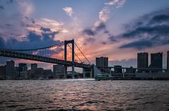 Rainbow bridge, Tokyo (Bmartel2k) Tags: bridge japan tokyo pont bateau japon rainbowbridge