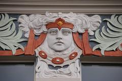 Jugendstil beauty (unnamedcrewmember) Tags: gesicht linden hannover relief ornament frau fassade jugendstil kopf verzierung stilisiert wittekindstrase