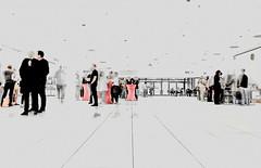 Urbanitas Temple (holyfnger, mostly running after Lara Kraft) Tags: street light people blackandwhite streetart abstract art blancoynegro germany deutschland europe fineart streetphotography silhouettes meeting alemania pblico passenger abstracto bodensee   badenwrttemberg lakeconstance badenwuerttemberg  radolfzell pasajeros untersee     antonioeisman holyfnger
