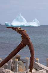 Spring in Newfoundland (gwhiteway) Tags: ocean travel blue light sea summer white canada cold tourism ice nature water clouds newfoundland season coast frozen spring alley rocks waves air north scenic science tourist calm atlantic glacier arctic pots coastal freeze anchor lobster change environment coastline melt iceberg polar traps climate warming icebergs global twillingate