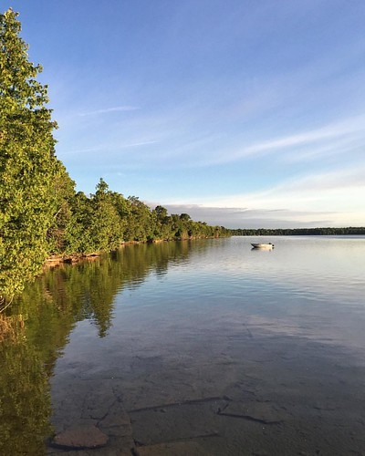 Island evening, Big Lake, Manitoulin