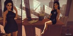 Waiting game.. (Sistine Kristan (Sisely) - Toolbox Chicks) Tags: office mesh maitreya dead dollz vintage fair shiny shabby truth hair tetra studio what next madpea apple fall