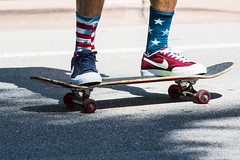 July 4th (Gigin - NoDigital) Tags: people usa colors shoes colorful unitedstates miami flag skating objects places clothes geography activity