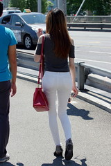 White Jeans, Grey Top 1 (booster_again) Tags: jeans