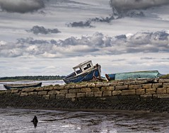 Decaying Crafts (Stephen Sinclair Photography) Tags: sky wall river nikon mud decay forth boar kincardine slipway