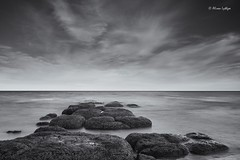 Uncovered (Ali Ly) Tags: longexposure sea sky art beach water clouds nikon rocks day outdoor hunstanton d810 sigma24mm leebigstopper