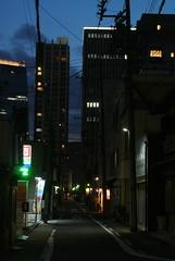 nagoya15618 (tanayan) Tags: night view urban town road street alley aichi nagoya japan nikon j1