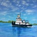 "Intercoastal Tug - 36"" x 36"" - sold"