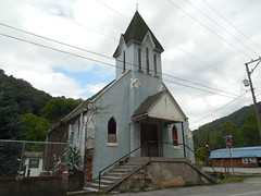 The Old Blue Church (jimmywayne) Tags: northfork westvirginia mcdowellcounty church decay rural