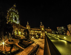 Pasadena City Hall at night (Paul A. Hart) Tags: cityhall olympus fisheye pasadena zuiko oly em1 manuallens rokinon rokinon75mmf35