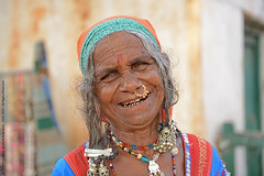 """A SMILE CAN BRIGHTEN THE DARKEST DAY"" (GOPAN G. NAIR [ GOPS Creativ ]) Tags: old india smile lady photography honest banjara karnataka gypsy lambadi gops gopan gopsorg gopangnair gopsphotography"