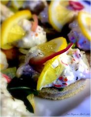 Toast Skagen (Papa Razzi1) Tags: classic salad lemon toast shrimp necessity familytradition 2015 4785 94365 toastskagen