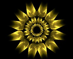 Hammered Brass Fractal (the-dude-abides) Tags: abstract flower fractal brass jwildfire