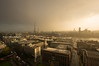 (Claire*Marsh) Tags: city uk light england urban sun storm london wet sunshine rain clouds buildings point high view britain capital wideangle stormy vista stpaulscathedral riverthames breaking csc goldengallery theshard sonynex5r samyang12mmf20