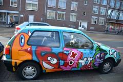 graffiti amsterdam (wojofoto) Tags: amsterdam graffiti streetart wojofoto wolfgangjosten car lastplak oxalien ox nederland netherland holland