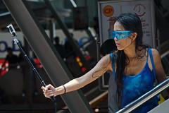The right angle (N808PV) Tags: camera blue water girl beauty festival action bangkok celebration thai hero songkran silom googles gopro