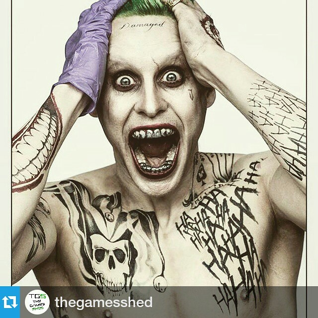 Very different from Heath Ledgers joker (visually at least) looking forward to how it all plays out   #Repost @thegamesshed ・・・ JARED LETOs Joker for 2016 Suicide Squad movie. Yes or no? #joker #dc #dcuniverse #batman #suicidesquad #geek #comic #comics