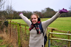 Claudia (charlottehbest) Tags: christmas uk winter friends cold happy holidays december friendship walk boxingday cotswolds claudia late backlog 2014 charlottehbest